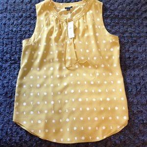 Ann Taylor sleeveless blouse size S
